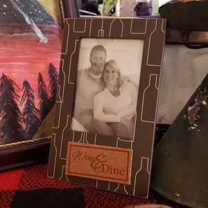 🍷 Wine & dine picture frame romantic valentine's